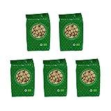 Mundo Feliz - Nueces de macadamia ecológicas crudas, 5 bolsas de 100g...