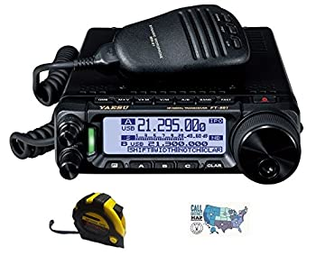 Bundle - 3 Items - Includes Yaesu FT-891 HF/6M Mobile Radio with The New Radiowavz Antenna Tape  2m - 30m  and HAM Guides Quick Reference Card