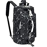 40L Laptop Backpack with Waterproof Gym Duffle Bag for Men Women Teen, Durable Travel Bags with Shoulder Strap for Sport Hiking School - Champagne Gold