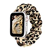 Leopard Replacement Band Compatible for iWatch 38mm/40mm Vanbatey Wrist Band PU Leather Strap for Apple Watch Smartwatch Series 5 4 3 2 1 Version
