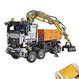MYRCLMY Bloques De Construcción Control Remoto Camión Neumático Motorizado Carro De Automóviles Bloques De Construcción De Ladrillos Ingeniería Vehículo RC Juguetes Niños 2819 PCS