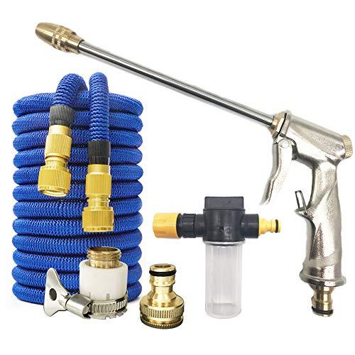 Water Gun Tuinslang Nozzle Water Spray Verstelbare High Pressure Wasmachine van de Macht for Plant Flower huishoudelijke schoonmaakmiddelen Car Washer (Color : Gun Hose Foam pot)