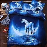 Bedclothes-Blanket Copripiumino Matrimoniale Estivo,Nuove Forniture per saldature stellate digitali 3D-io_1,5 m Letto (10 * 220 cm)