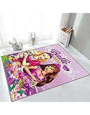 Tapijt Persoonlijkheid Creatieve Schattige Meisje Slaapkamer Nachtkastje Deken Kinderkamer Tapijt Cartoon Anime Barbie Prinses Patroon Decoratie: