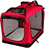 AVC Designs Red Portable Soft Fabric Pet Carrier Folding Dog Cat Puppy Travel Transport Bag