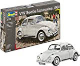 Revell-Volkswagen Maqueta VW Beetle Limousine 1968, Kit Modelo, Escala 1:24 (07083), Color Gris