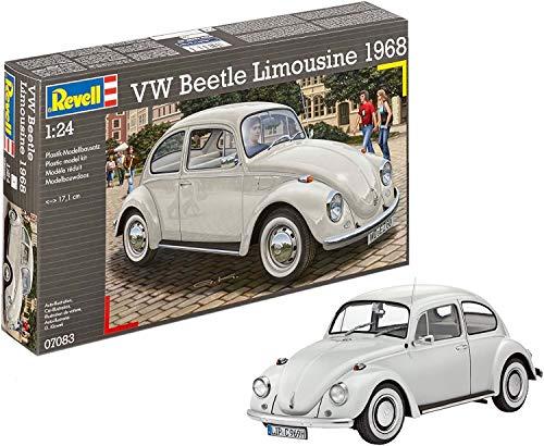 Revell Revell_07083 Modellbausatz Auto 1:24 - Volkswagen VW Käfer 1968 (VW Beetle) im Maßstab 1:24, Level 4, originalgetreue Nachbildung mit vielen Details, 07083