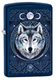 Zippo Encendedor de latón, Azul, 5,5 x 3,5 x 1 cm