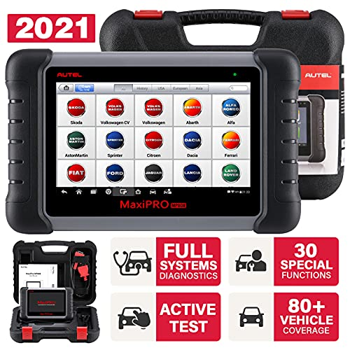 Autel MaxiPRO MP808 OBD2 Diagnostic Scanner with Bi-directional Control, Key Fob Programming, ECU coding, ABS bleeding brake, Reset Functions including Oil Reset, EPB, SAS, DPF, BMS, ABS, SRS, TPMS