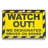 ブリキ看板 ミニサイズ barricade-1-7.WATCH OUT! / バリケード サインプレート インテリア