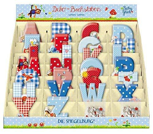 Die Spiegelburg Buchstaben Sparset Babyglück im Set I inkl. Geschenkverpackung (6 Stück)