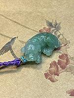 福袋 ペンダント かわいい ワンちゃん 犬 ミャンマー産 本翡翠 氷ヒスイ A貨 透明感 高級緑色 誕生日プレゼント 縁起物 戌年 天然石 本物保証