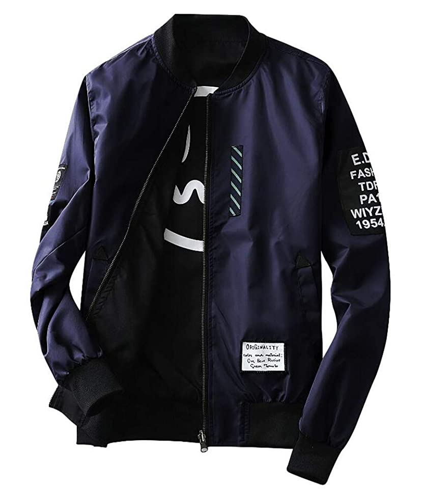 踏みつけ立ち向かう歩く[Senneak] メンズ ジャケット ウインドブレーカー 春秋 薄手 UVカット ジャンパー ブルゾン 長袖 カジュアル アウター 上着 パーカー フード 無地 スタジャン おしゃれ 防風 冷房対策 大きいサイズ M-5XL