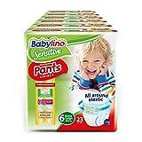 Babylino Sensitive Pants extra grande, 138 pañales braguita talla 6 (15+kg)