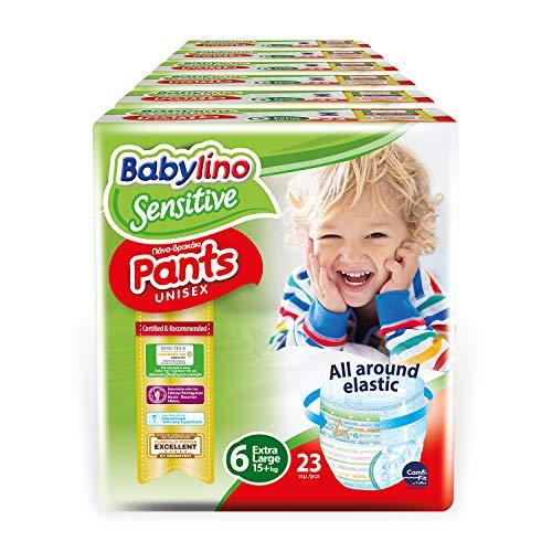 Babylino Sensitive Pants Extra Large, 138 Windeln, Größe 6 (15+kg)