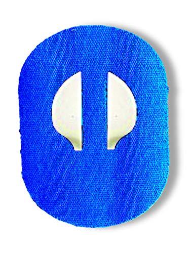 FixTape ademende sensor tape voor Medtronic Enlite I zelfklevende patch voor glucose sensor met veel draagcomfort I huidvriendelijk en watervast in hippe designs I 7 stuks (Blauwe)