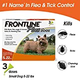 Frontline Plus for Dogs Small Dog (5-22 pounds) Flea and Tick...