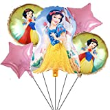 5PCS Snow White Balloons for Kids Birthday Baby Shower Princess Theme Party Decorations