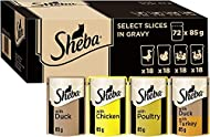 Sheba Cat Pouches in Gravy Poultry Collection 72x 85g