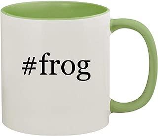 #frog - 11oz Hashtag Ceramic Colored Inside & Handle Coffee Mug, Light Green
