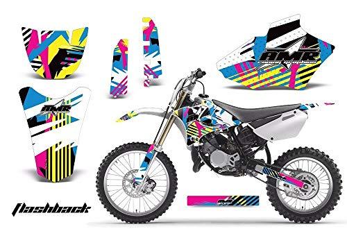 AMR Racing MX Dirt Bike Graphics kit Sticker Decal Compatible with Yamaha YZ85 2002-2014 - Flashback