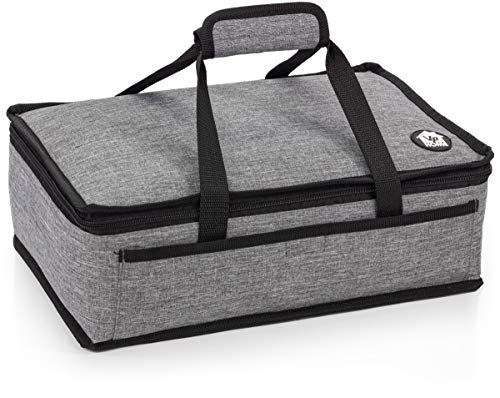 VP Home Insulated Casserole Carrier Travel Bag (Heather Gray)