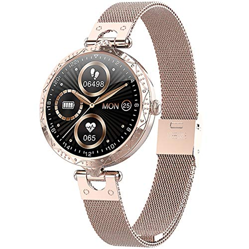 2021 Orologio Da Donna Smart Watch Full Touch Schermo Circolare Sport Smart Orologio Intelligente, Adatto Per La Frequenza Cardiaca E La Pressione Sanguigna Della Ragazza, Adatto Per Android E Ios,A