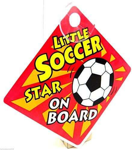 Little Star de football sur panneau ventouse véhicule voiture de sécurité Panneau de football