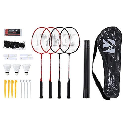 Viavito Super Strike Badminton-Set für 4 Spieler