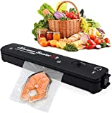 Horoly Vacuum Sealer Machine, 2020 Upgraded, Automatic Vacuum Sealer for Food Preservation, Suitable for Dry & Moist Food, Portable Sealer with 10 Vacuum Sealer Bags Led Indicator Lights