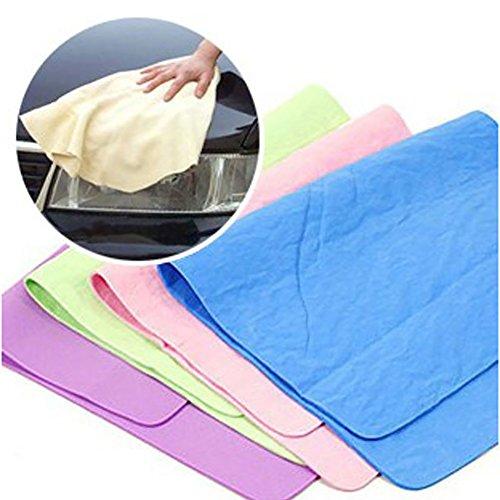 YSHtanj Auto-Reinigungs- und Wartungshandtuch, Magic Towel Tuch Absorber synthetisches Chamois Lederwaren Autowaschen Haar trocken - zufällige Farbe 30 x 40 cm 30x40cm
