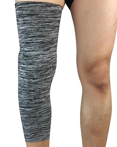 Knee Brace Manga, de Compresión de Rodilla Soporte para Correr, Trotar, Deportes, Baloncesto,Adecuado Dolor Común para Quien Sufre de Artritis(Envoltura única)