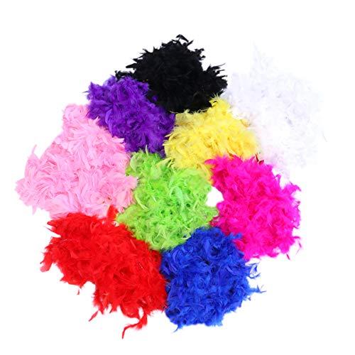 SUPVOX 9 pezzi 40g boa di piume colorate arcobaleno boa di piume forniture per feste boa in costume boa di piume lunghe per forniture artigianali