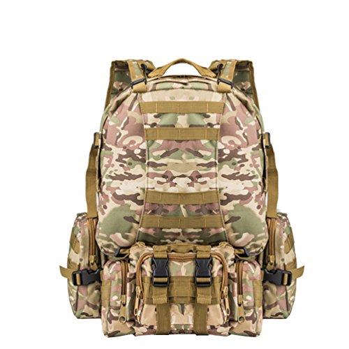 WanYang Paquete Combinado Rucksack Mochila Militar Táctica Camping Senderismo Deporte Backpack de Asalto Patrulla para Hombre Mujer