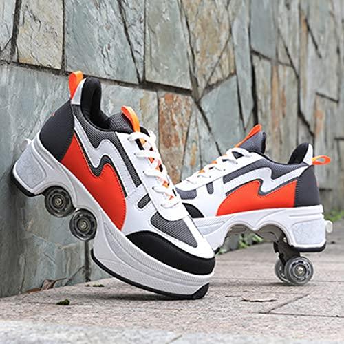 XHXH Kick Out - Botas de patinaje invisibles con polea, para adultos, para técnicos, deportivas, multifuncionales, 2 en 1, 42