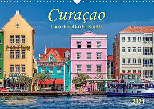 Curaçao - bunte Insel in der Karibik (Wandkalender 2021 DIN A3 quer)