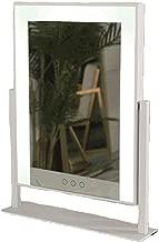 Makeup mirror Espejo de vanidad con Marco de Metal HD LED, Control táctil, atenuación Continua, Dos tamaños, Espejo de Maquillaje Cuadrado,White,B