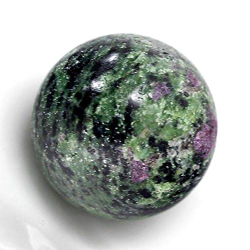 Sale Gemstones 30mm Round Ball Crystal Healing Sphere Massage Rock Stone Stand Chakra (Ruby in Zoisite)