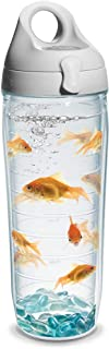 Tervis Goldfish Water Bottle with Lid, 24 oz, Clear -