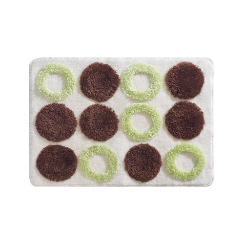 InterDesign Koko Rug, Brown/Green