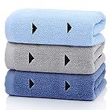 Years Calm - Juego de 3 toallas de mano de algodón, diseño triangular, 33 x 29 pulgadas, juego de toallas suaves y absorbentes para baño