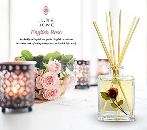 Luxe Home Duftstäbchen-Set, Duft English Rose, schönes Geschenk für Mutter, Ehefrau, Oma, Tante oder Arbeiter