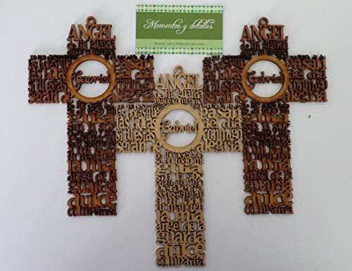 Cruces con oración para recuerdo 10 piezas personalizadas con nombre