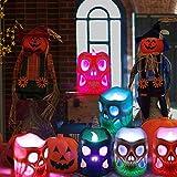LUNSY Halloween deko Led Kerzen Skelett Kerzenlicht 12LED Flackern Tee Lichter für Weihnachten Halloween Party schrecklichAtmosphäre … - 7