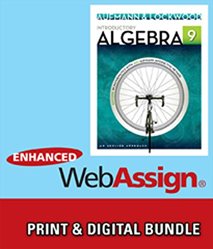 Bundle: Introductory Algebra: An Applied Approach, 9th + WebAssign Printed Access Card for Developmental Math, Single-Te