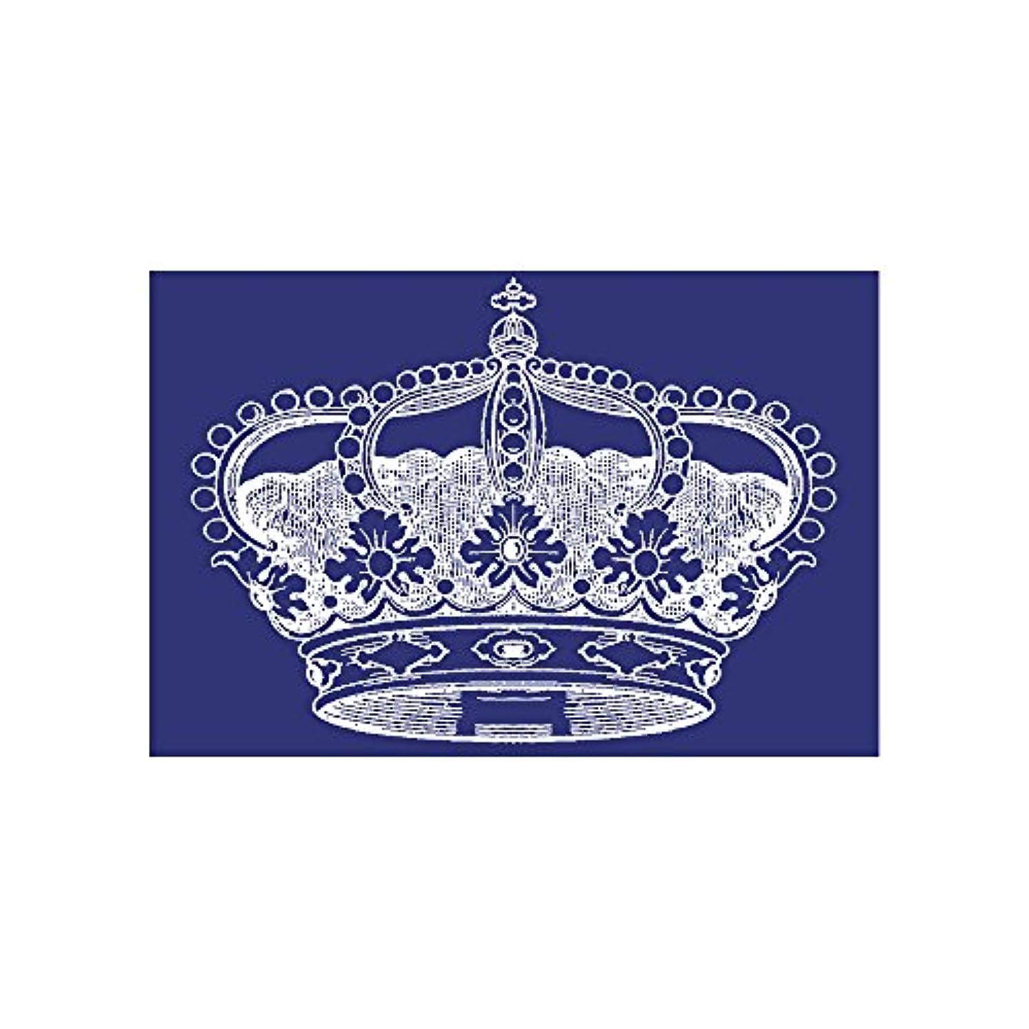 Rayher Crown Din A5 Stencil Plus Coating Knife in Tab-Bag, Blue