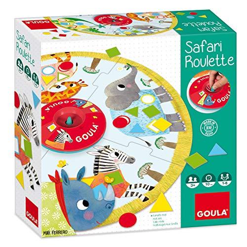 Goula- Safari Roulette Juego con Formas Geométricas, Multicolor (53156)