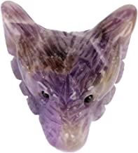 Wolf Head Statue Pendant - Natural Stone Crystal Carved Pendants - Fashion Style is Suitable for Various Occasions