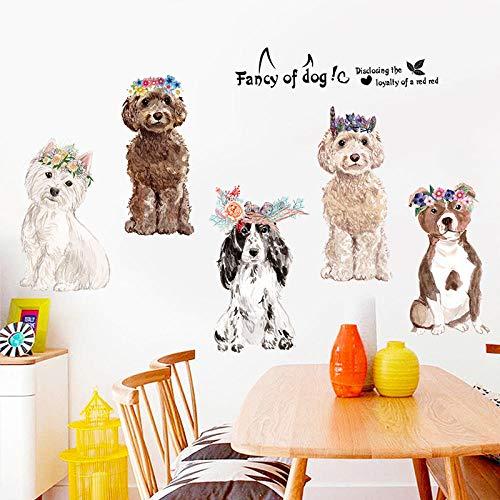 Muurstickers, creatief, eenvoudig, voor honden, letters, slinger, waterdicht, zelfklevend, knutselen, kinderkamer, wandsticker, vinyl, woonkamer, slaapkamer, decoratie