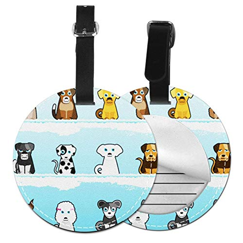 Luggage Tags Doggy Dogs Family Suitcase Luggage Tags Business Card Holder Travel Id Bag Tag